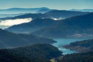 Lake Eildon Misty Blue Skyline-Karen Robinson