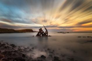 Beverley Van Praagh - Shipwrecked at Sunset (Merit)